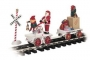 G Scale Christmas Hand Car & Trailer