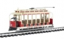 G Scale Open Streetcar United Traction /maroon&beige