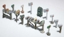 HO Scale Assorted Mail Boxes