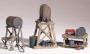 HO Scale Fuel Stands 3 Pc Set