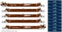 N Scale BNSF 5-Unit Stack Car #238354 w/40' NYK Containers